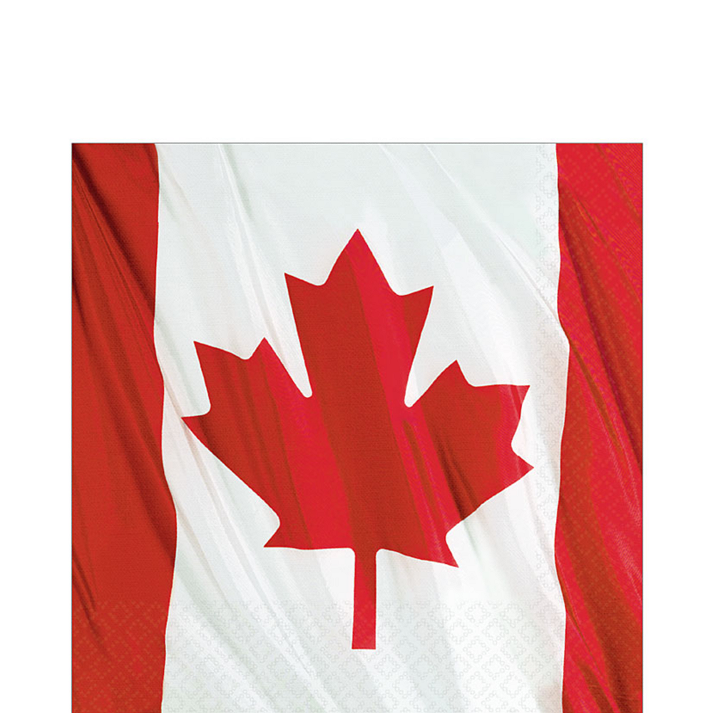 Waving Canadian Flag Lunch Napkins 20ct Image #1