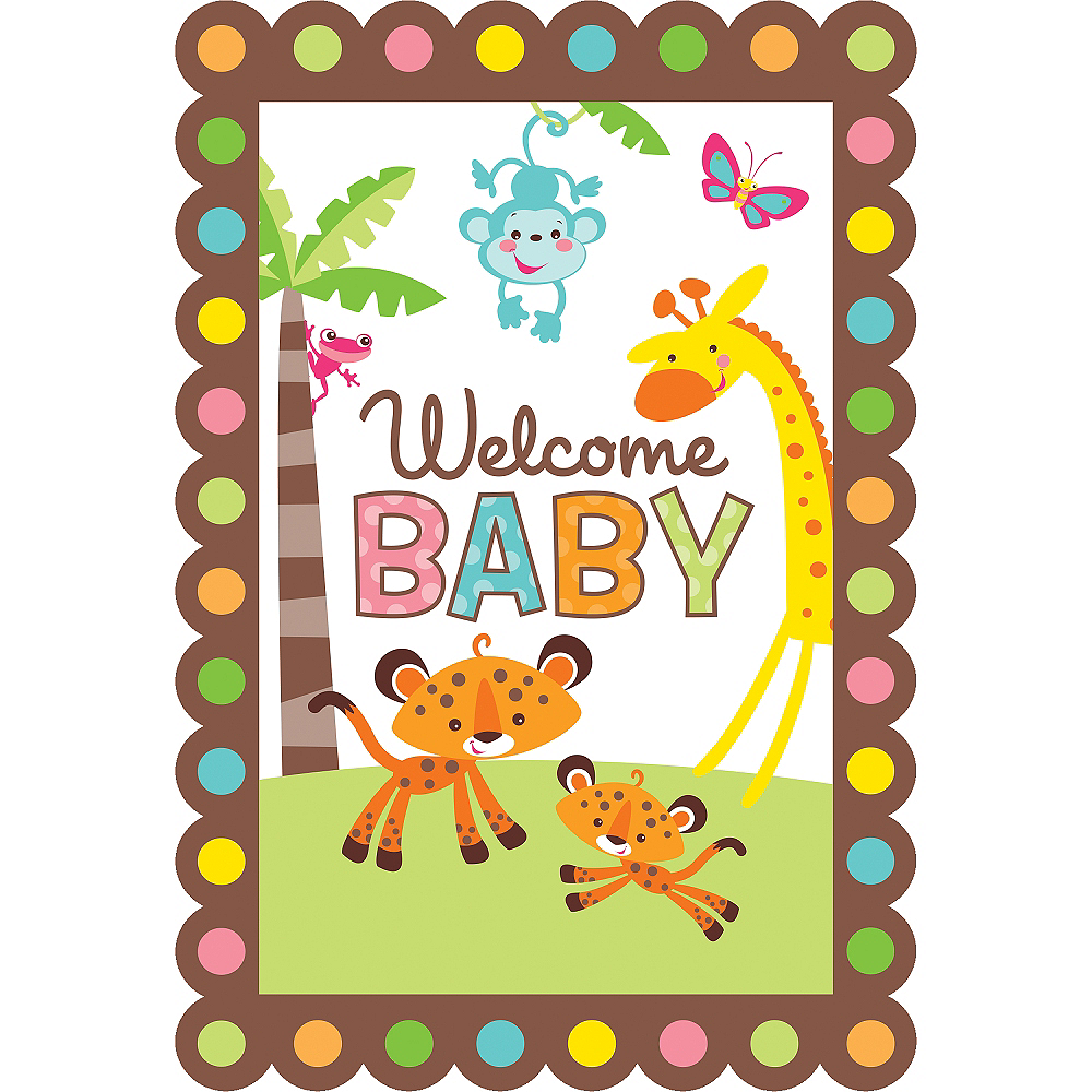 Fisher Price Jungle Baby Shower Invitations 8ct Image 1