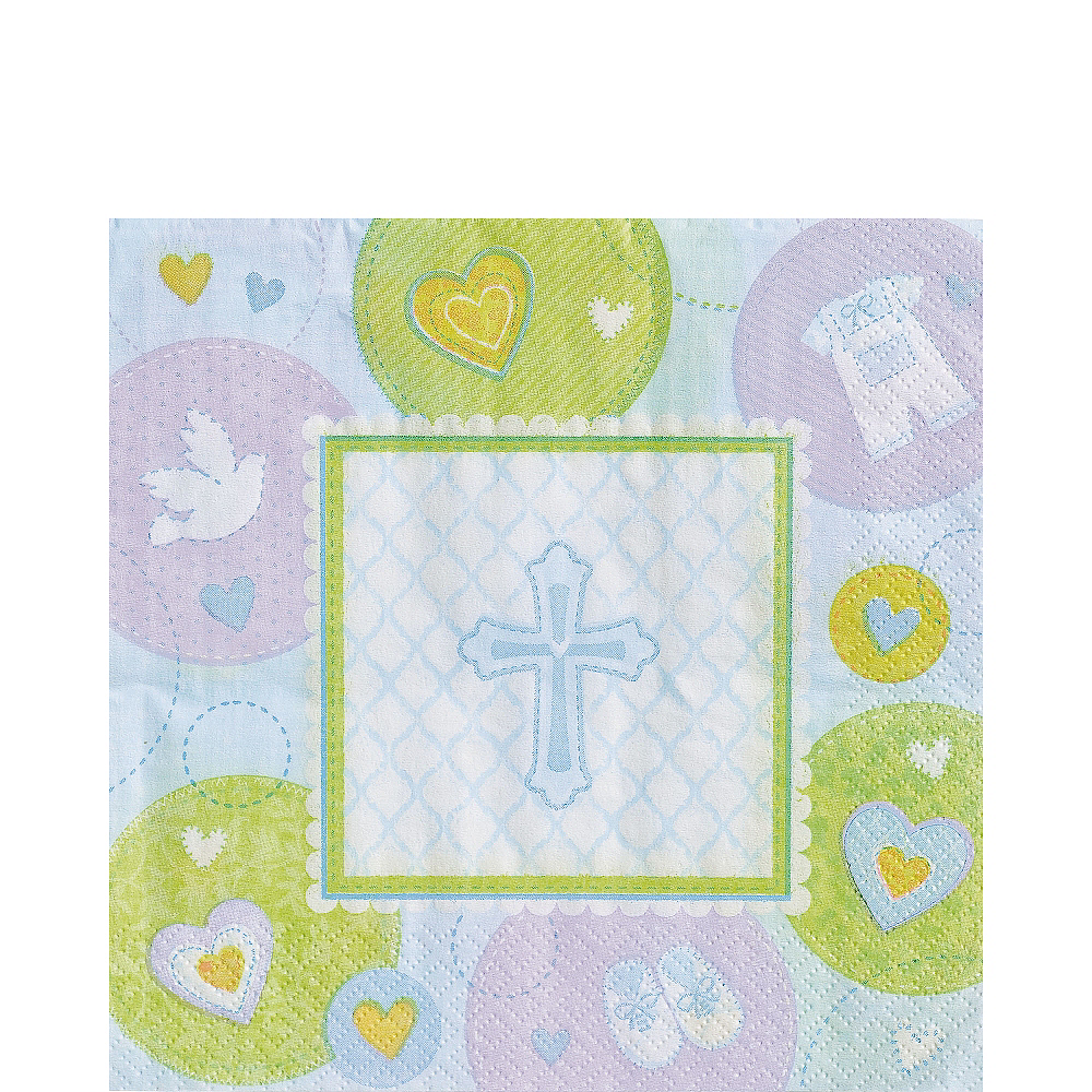 Blue Sweet Religious Lunch Napkins 16ct Image #1