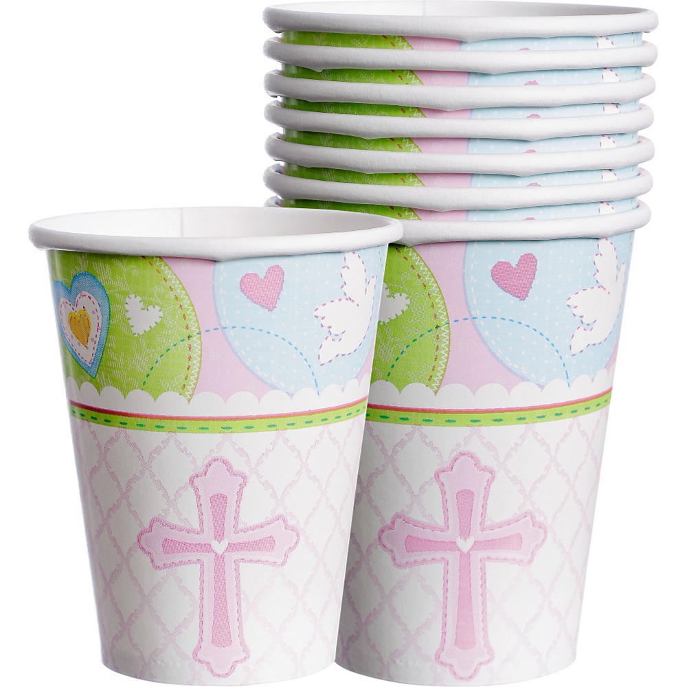Pink Sweet Religious Cups 8ct Image #1