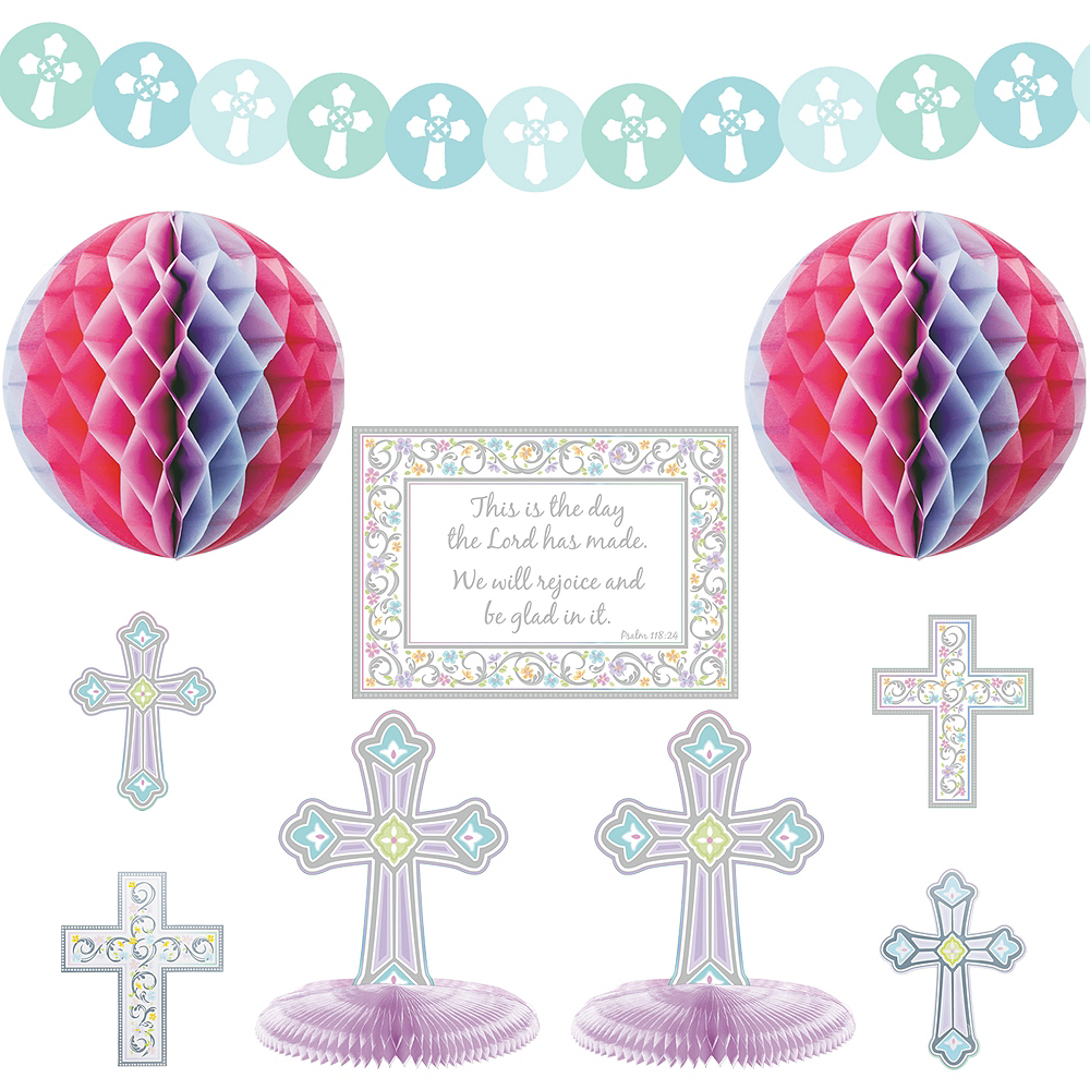 Blessed Day Religious Room Decorating Kit 10pc Image #1