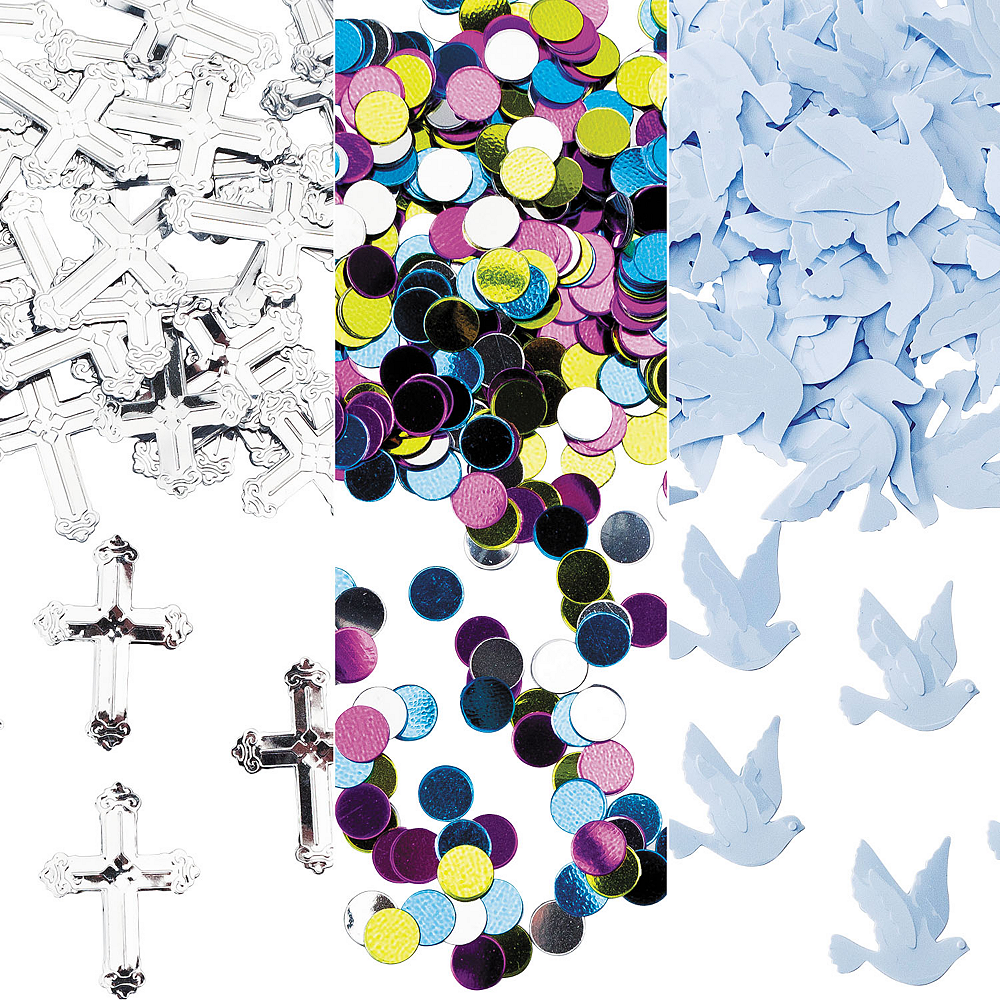 Iridescent Blessed Day Religious Confetti Image #1