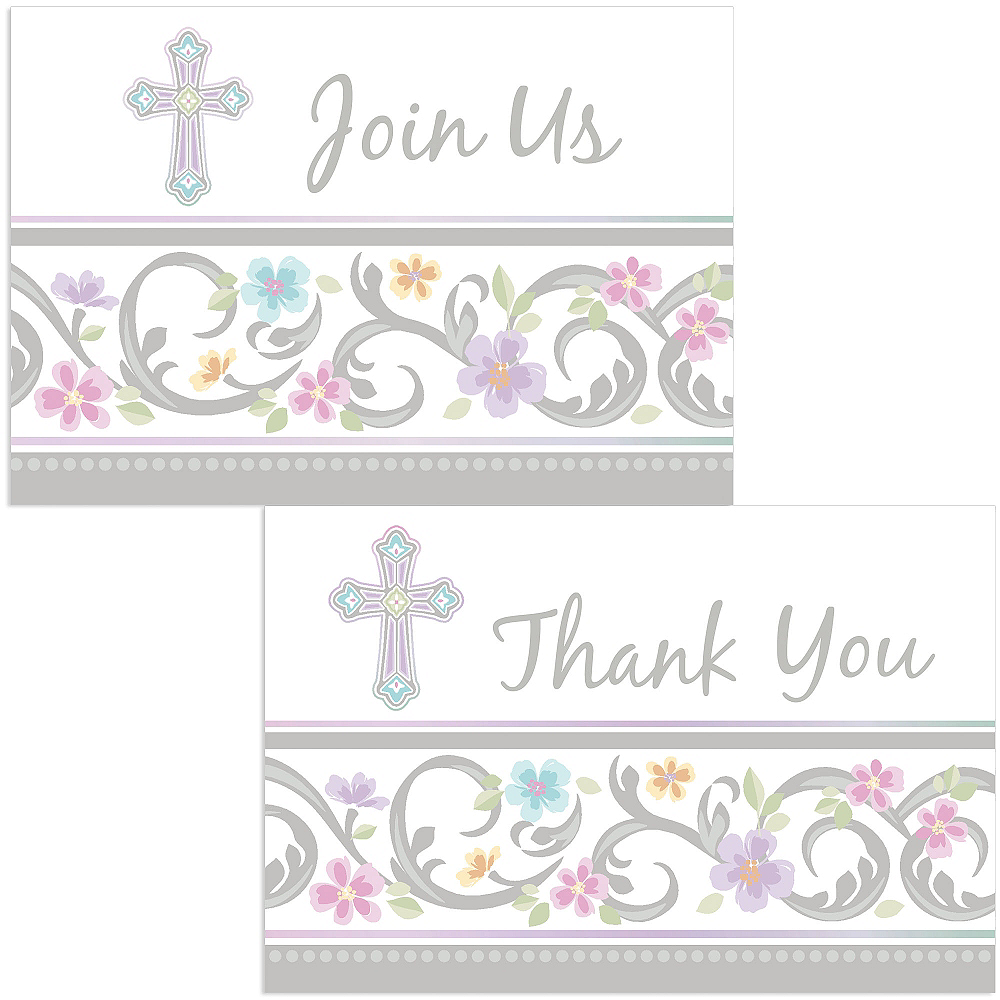 Blessed Day Religious Invitations & Thank You Notes for 8 Image #1