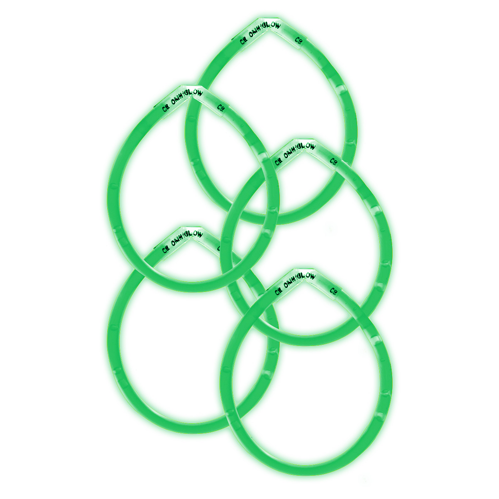 Nav Item for Green Glow Bracelets 5ct Image #1