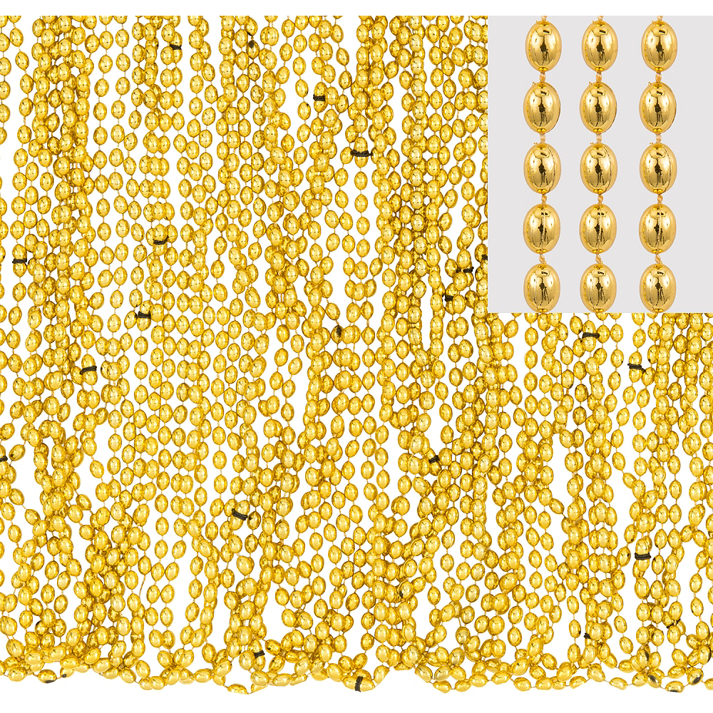 Nav Item for Metallic Gold Bead Necklaces 50ct Image #1
