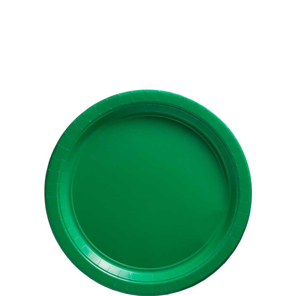 Nav Item for Festive Green Paper Dessert Plates, 7in, 50ct Image #1