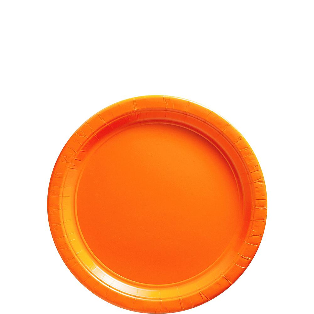Orange Paper Dessert Plates, 7in, 50ct Image #1