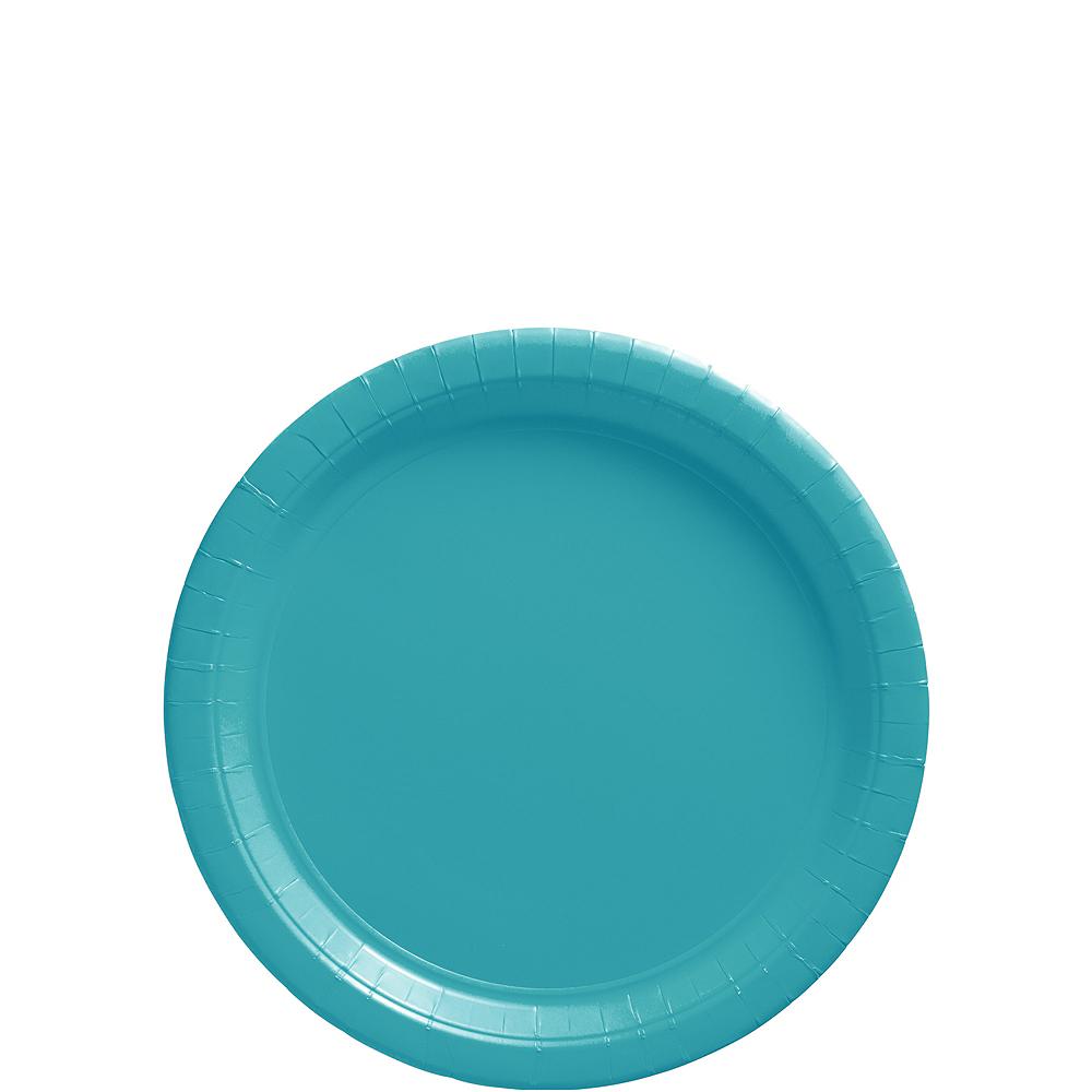 Caribbean Blue Paper Dessert Plates, 7in, 50ct Image #1
