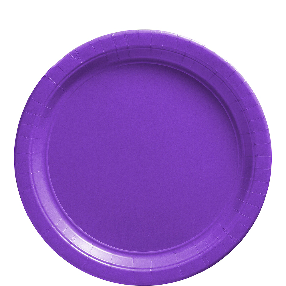 Purple Paper Lunch Plates, 9in, 50ct Image #1