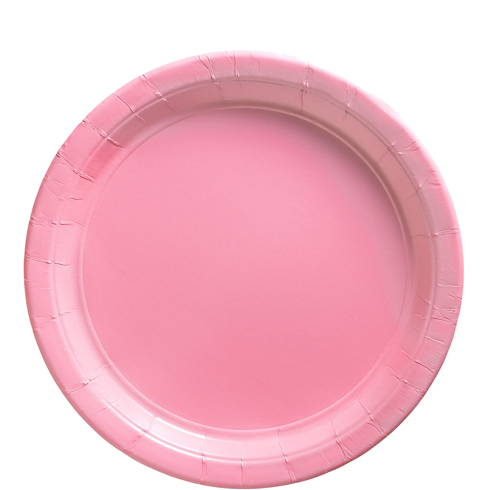Big Party Pack Pink Paper Lunch Plates 50ct Image #1