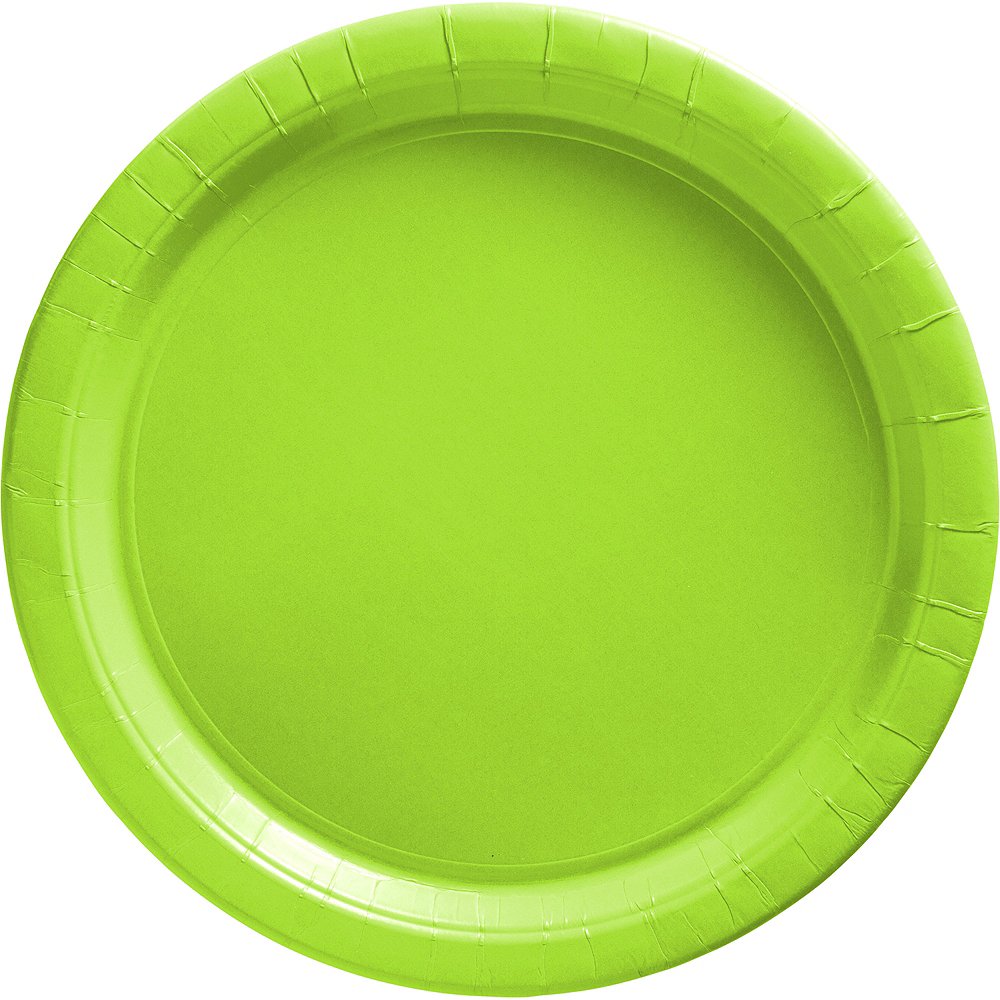Big Party Pack Kiwi Green Paper Lunch Plates 50ct Image #1