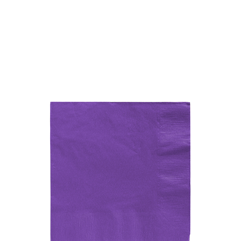Big Party Pack Purple Beverage Napkins 125ct Image #1