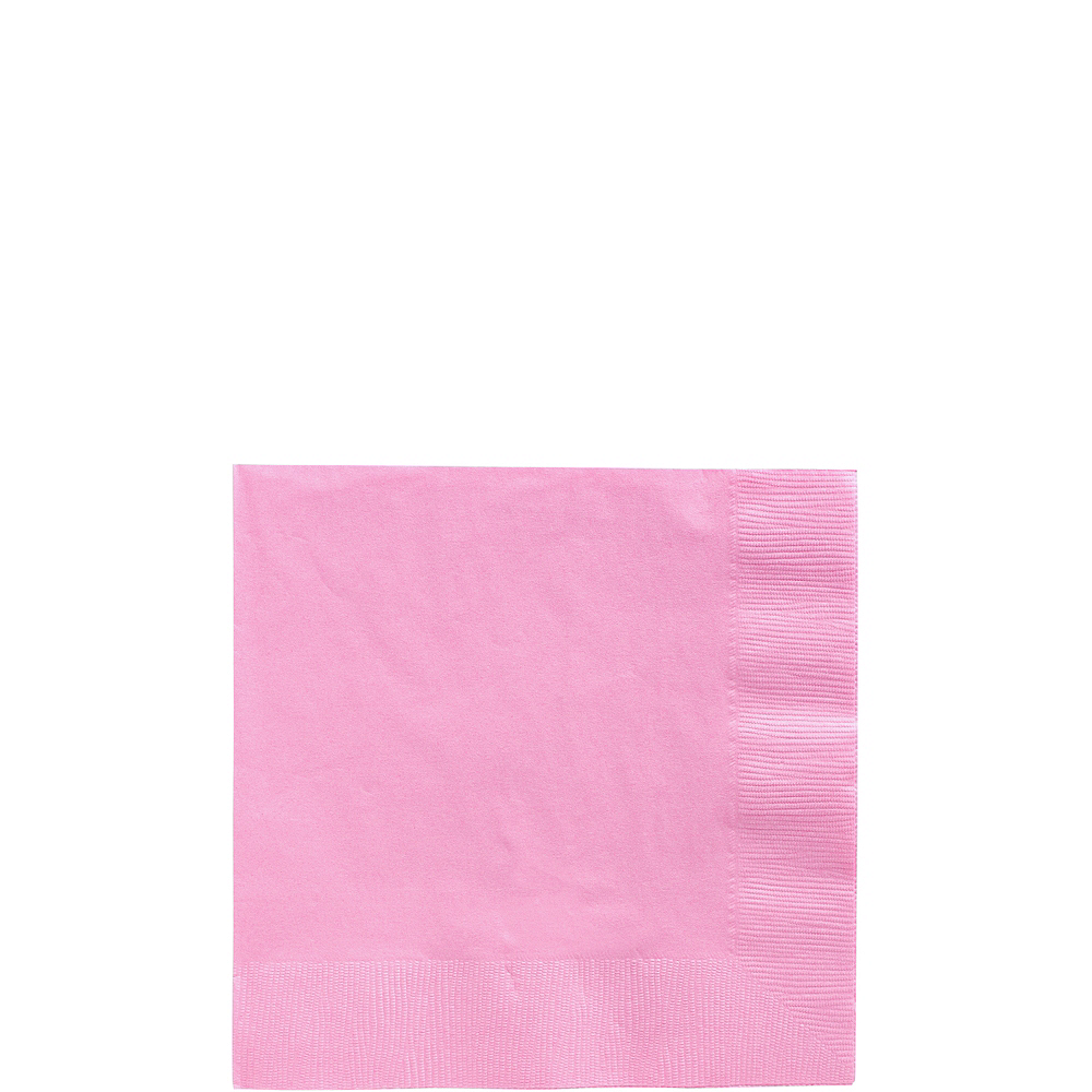 Big Party Pack Pink Beverage Napkins 125ct Image #1