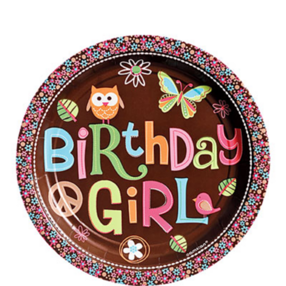 Nav Item for Hippie Chick Birthday Dessert Plates Image #1