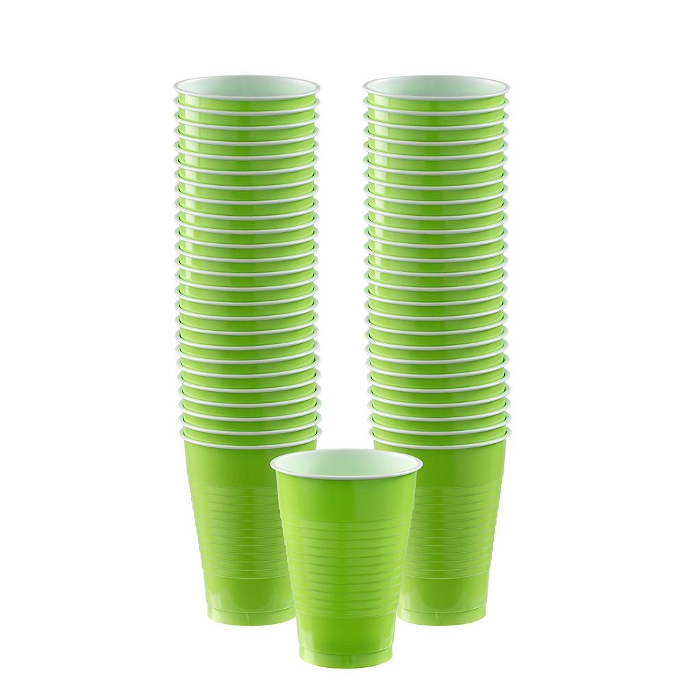 Kiwi Green Plastic Cups, 12oz, 50ct Image #1