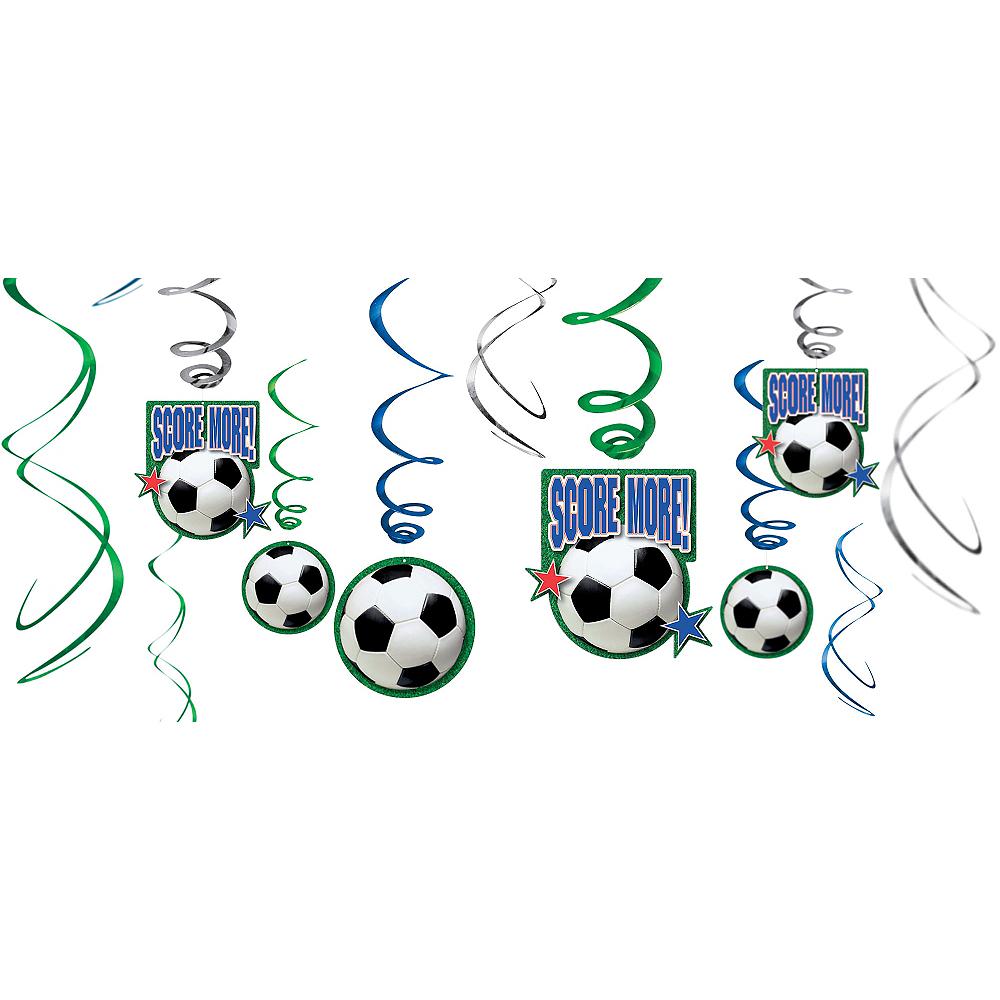 Soccer Hanging Swirl Decorations 12ct Image #1