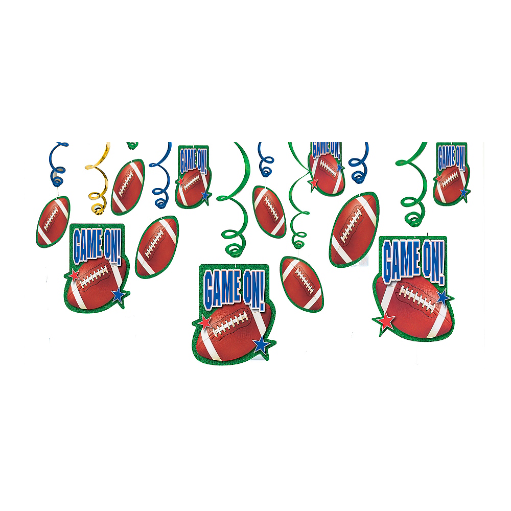 Nav Item for Football Swirl Decorations 12ct Image #1