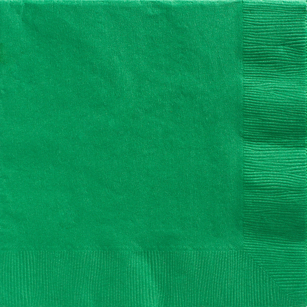 Big Party Pack Festive Green Dinner Napkins 50ct Image #1
