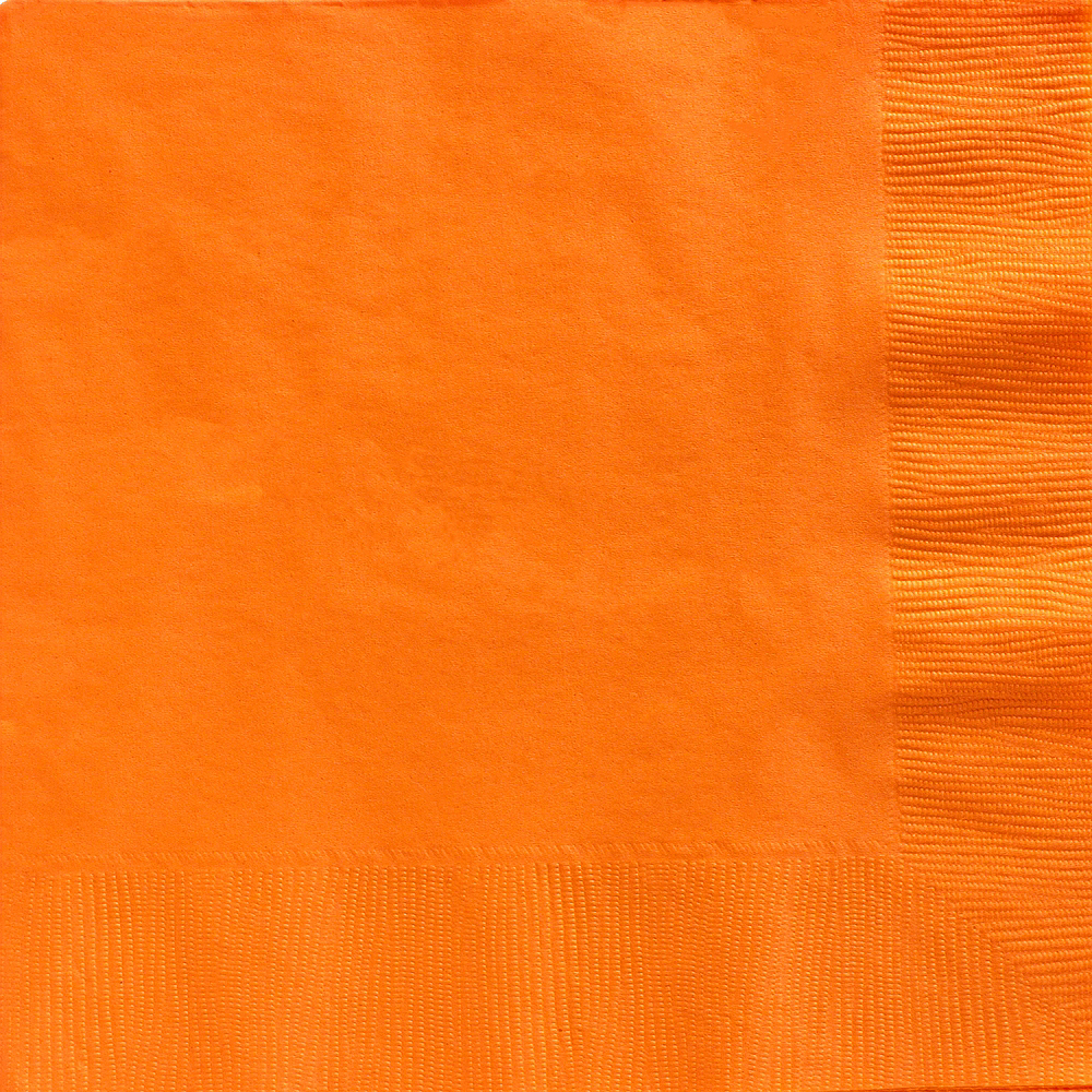 Big Party Pack Orange Dinner Napkins 50ct Image #1