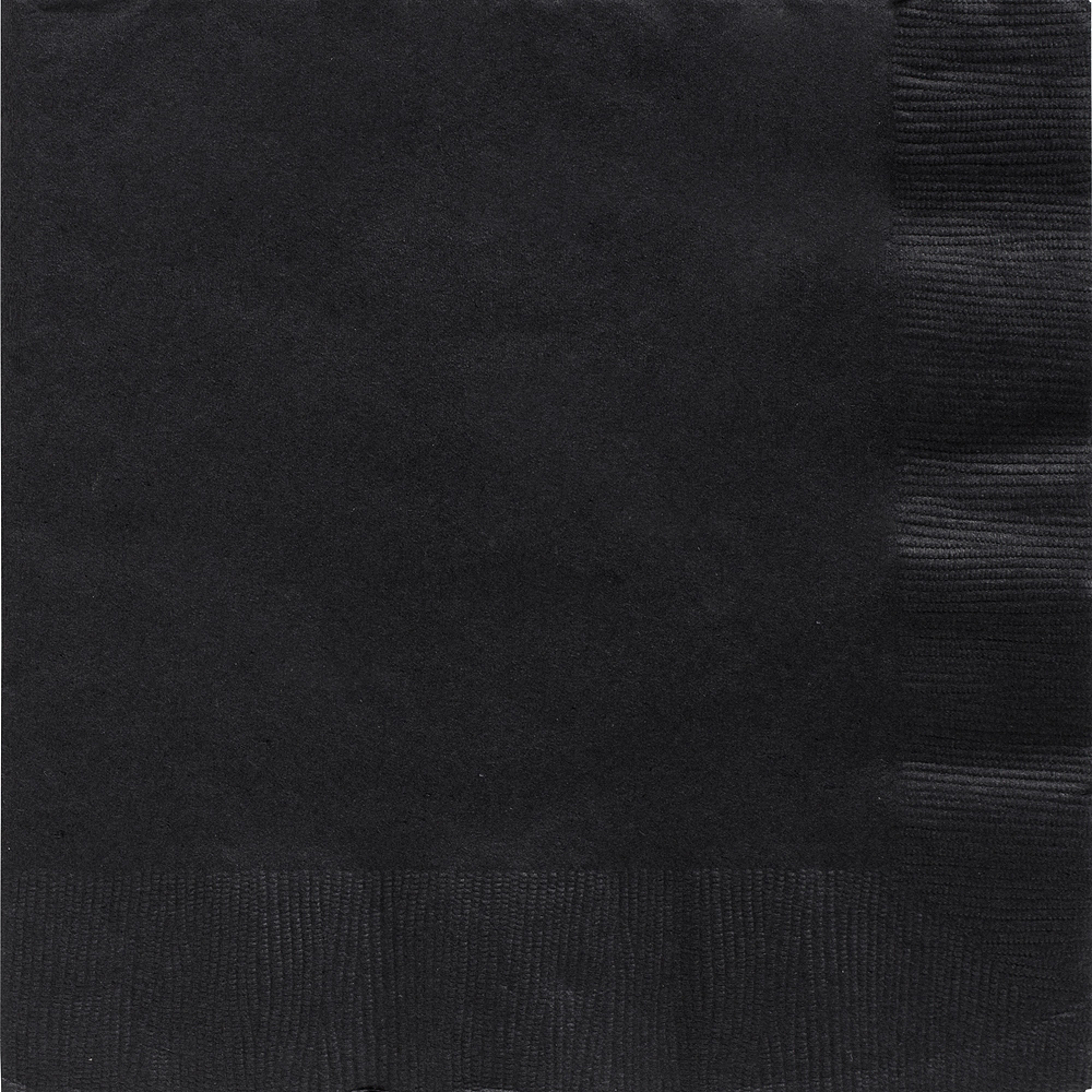 Big Party Pack Black Dinner Napkins 50ct Image #1