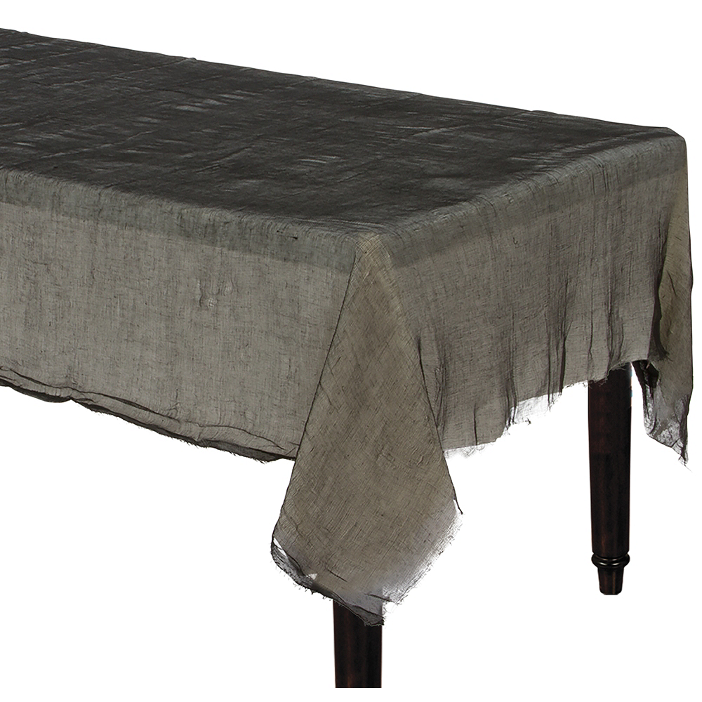 Black Cheesecloth Table Cover Image #1