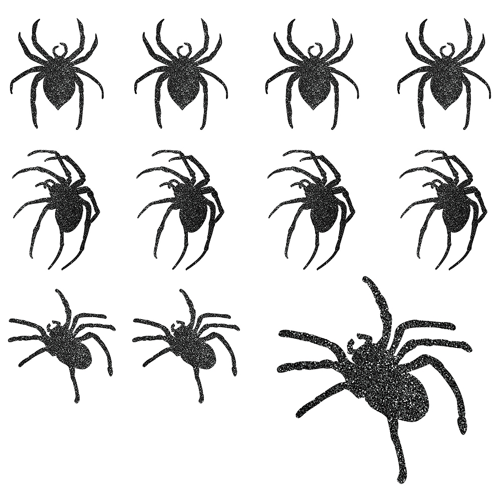 Nav Item for Glitter Spider Cutouts 9ct Image #1