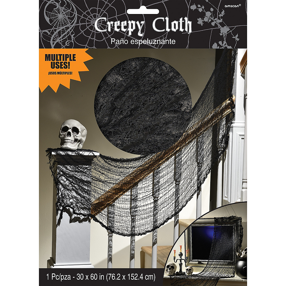 Black Cheesecloth Drape Image #3