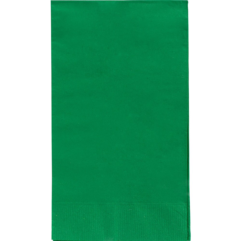 Big Party Pack Festive Green Guest Towels 40ct Image #1