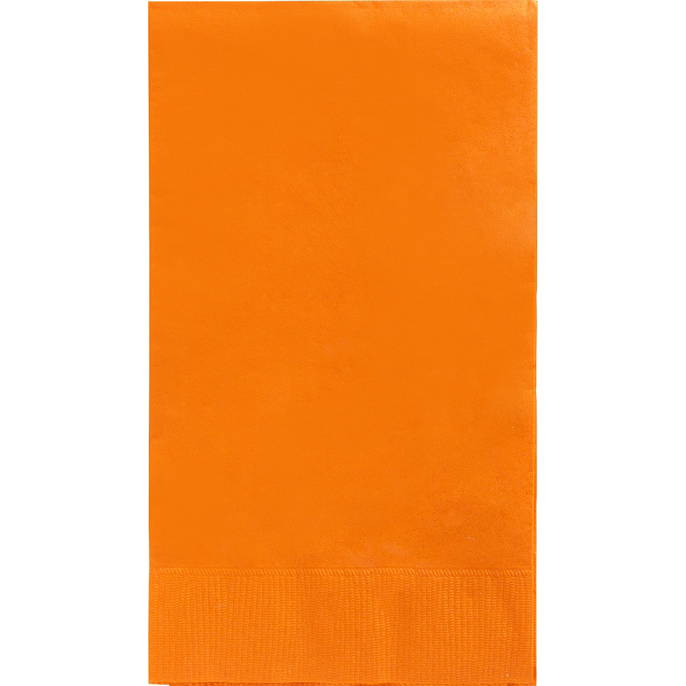 Big Party Pack Orange Guest Towels 40ct Image #1