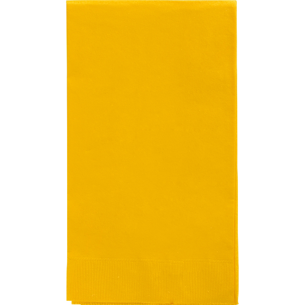 Big Party Pack Sunshine Yellow Guest Towels 40ct Image #1