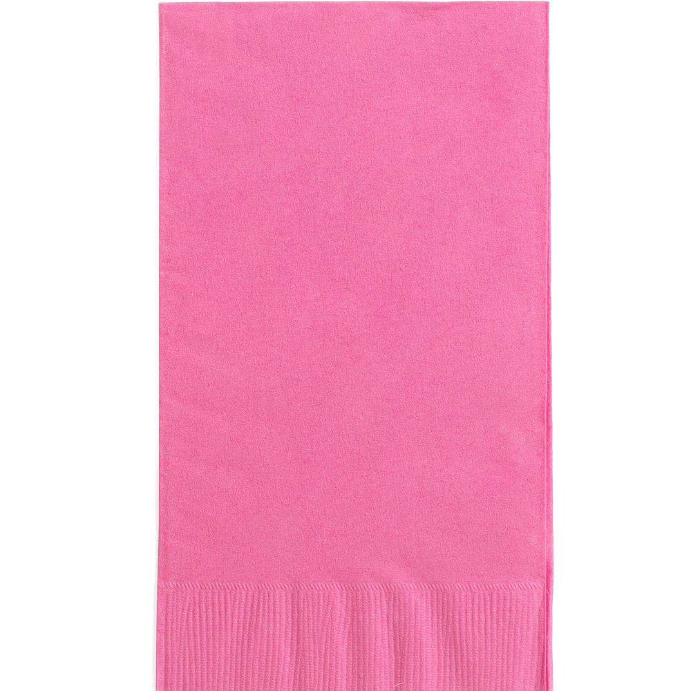 Big Party Pack Bright Pink Guest Towels 40ct Image #1