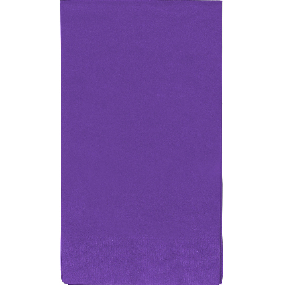 Big Party Pack Purple Guest Towels 40ct Image #1