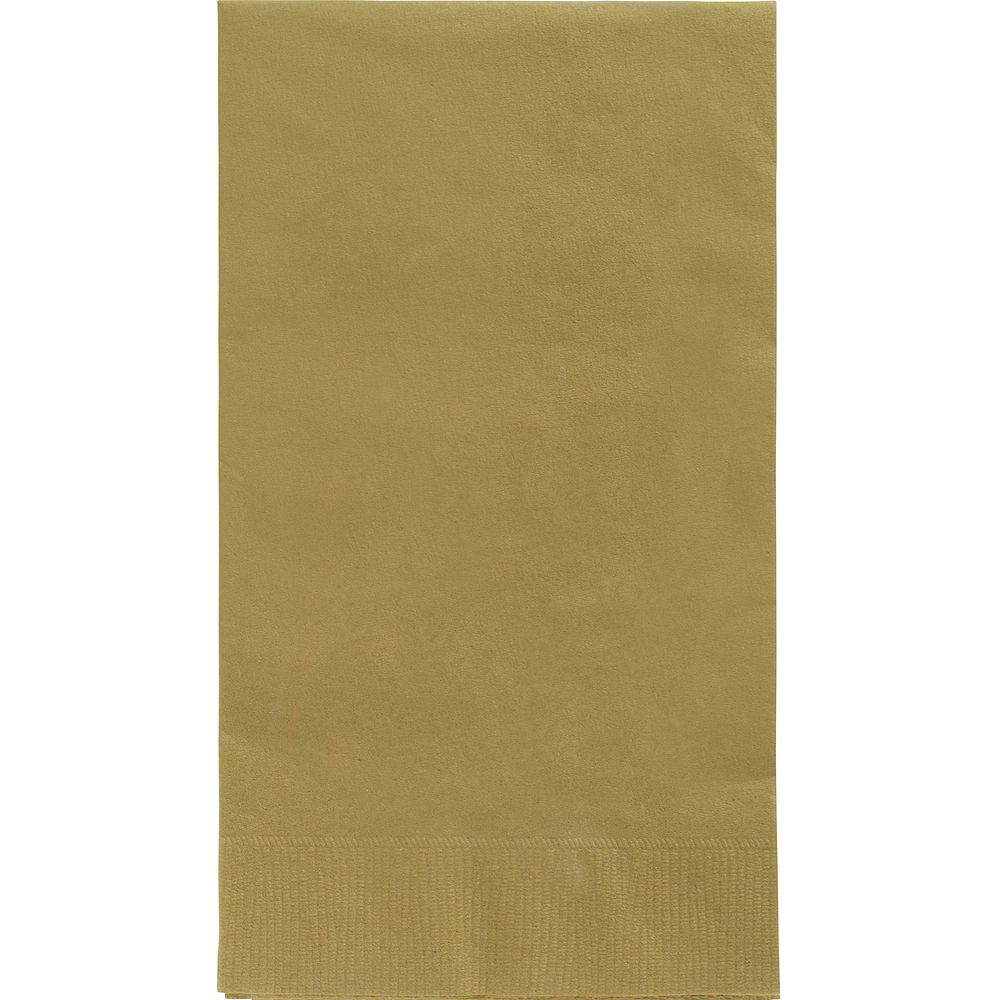 Big Party Pack Gold Guest Towels 40ct Image #1