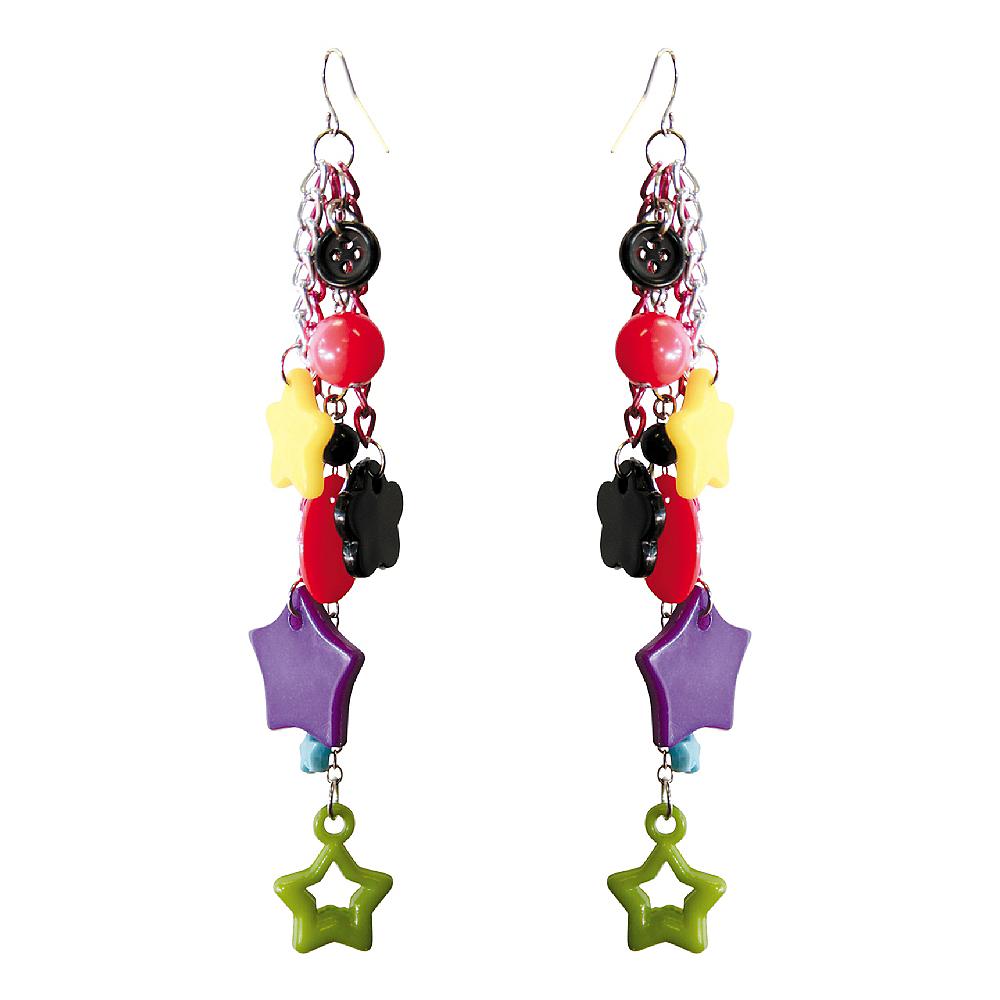 Multi Color Dangle Earrings Image #1