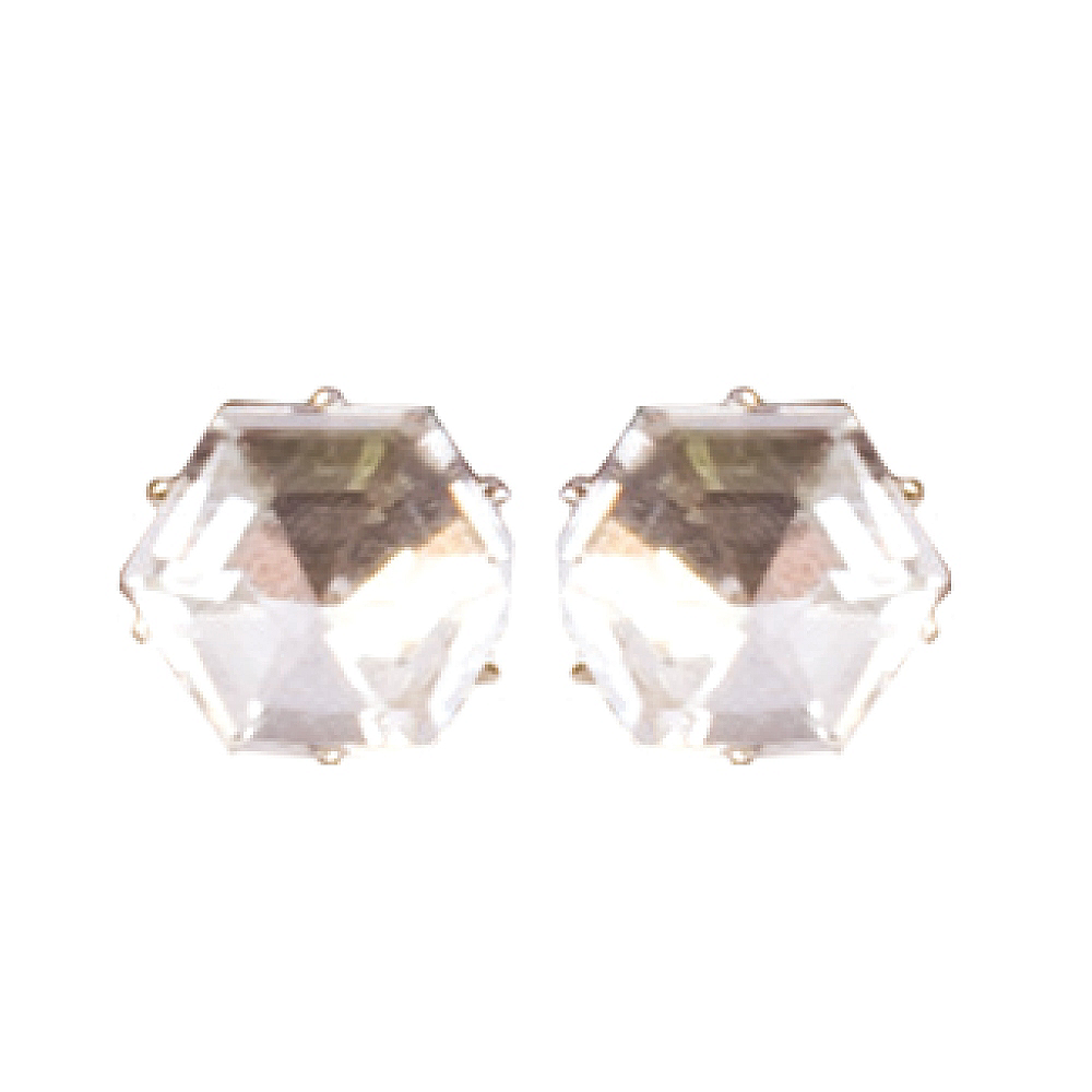 Big Diamond Stud Earrings Image #1