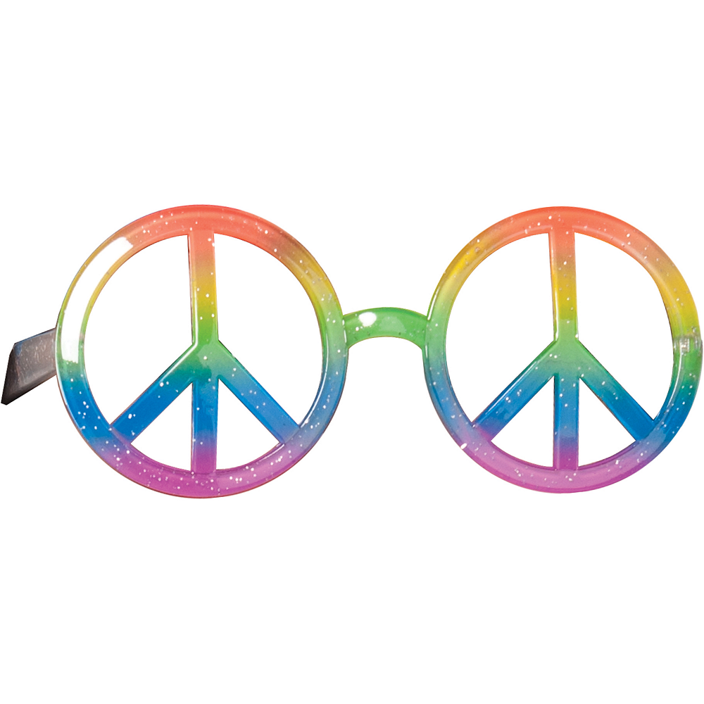 Hippie Peace Sign Glasses Party City