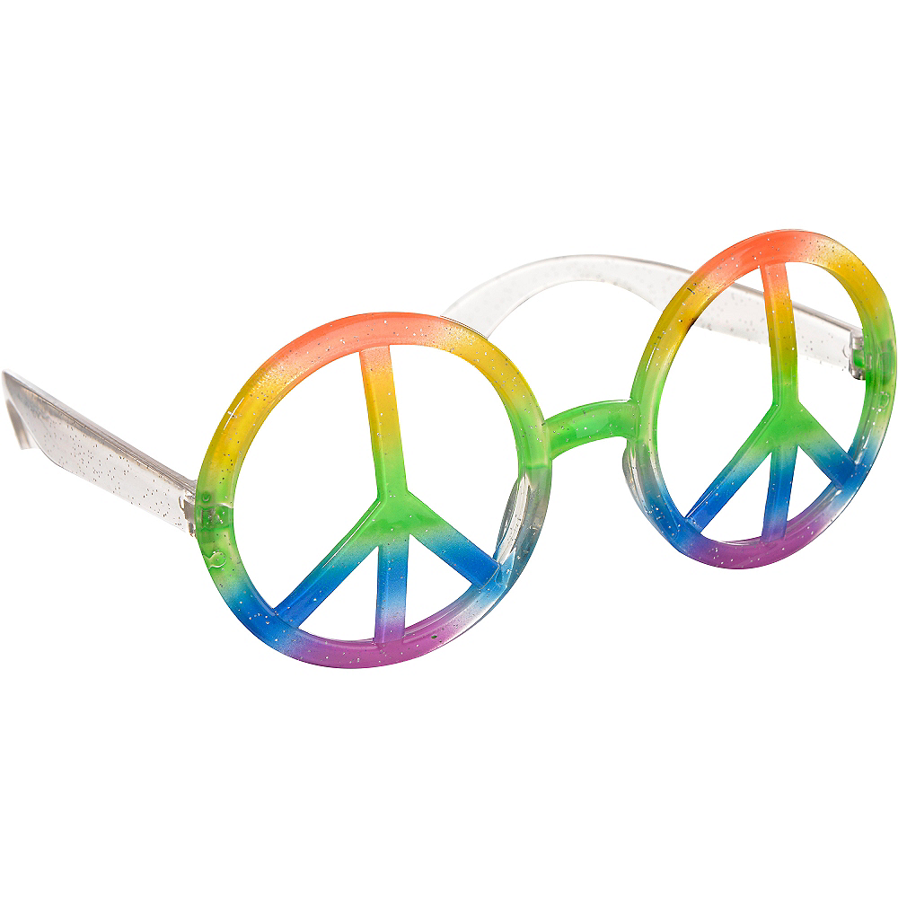 Hippie Peace Sign Glasses Image #2