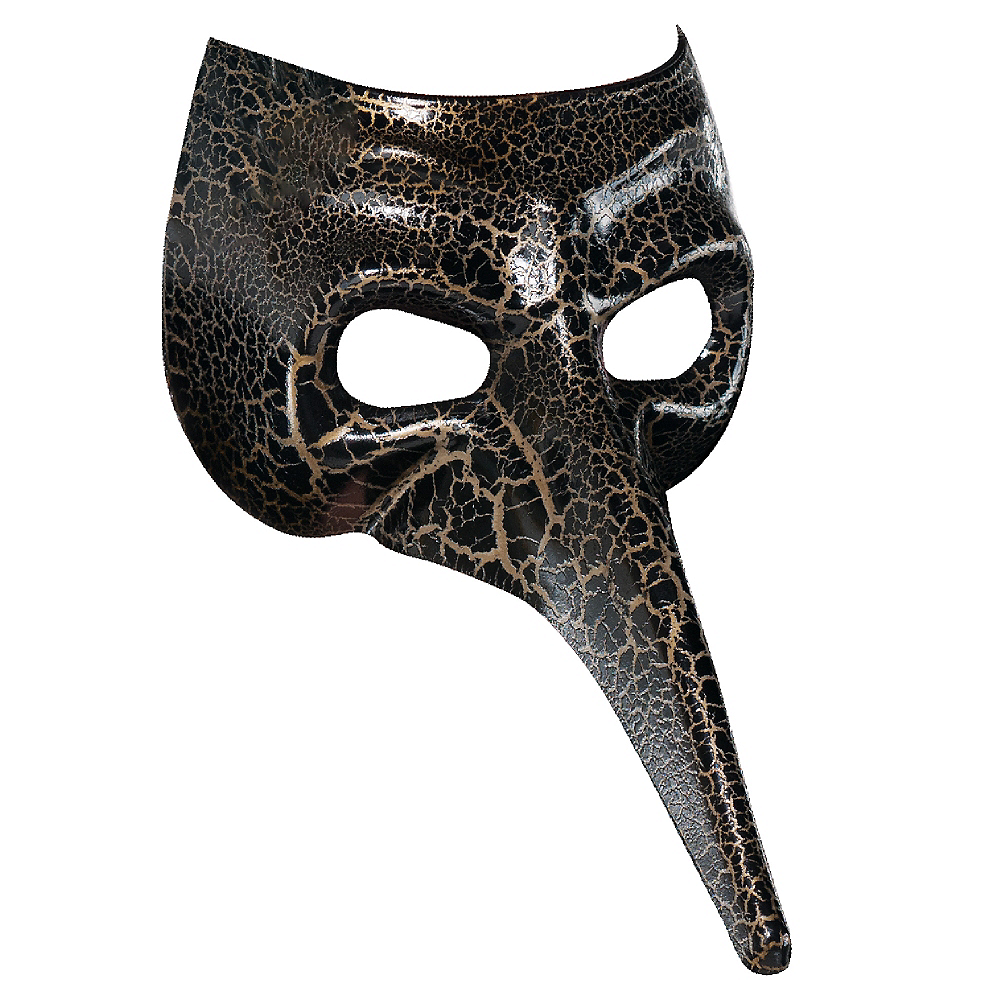 Nav Item for Black & Gold Crackle Long Nose Mask Image #1