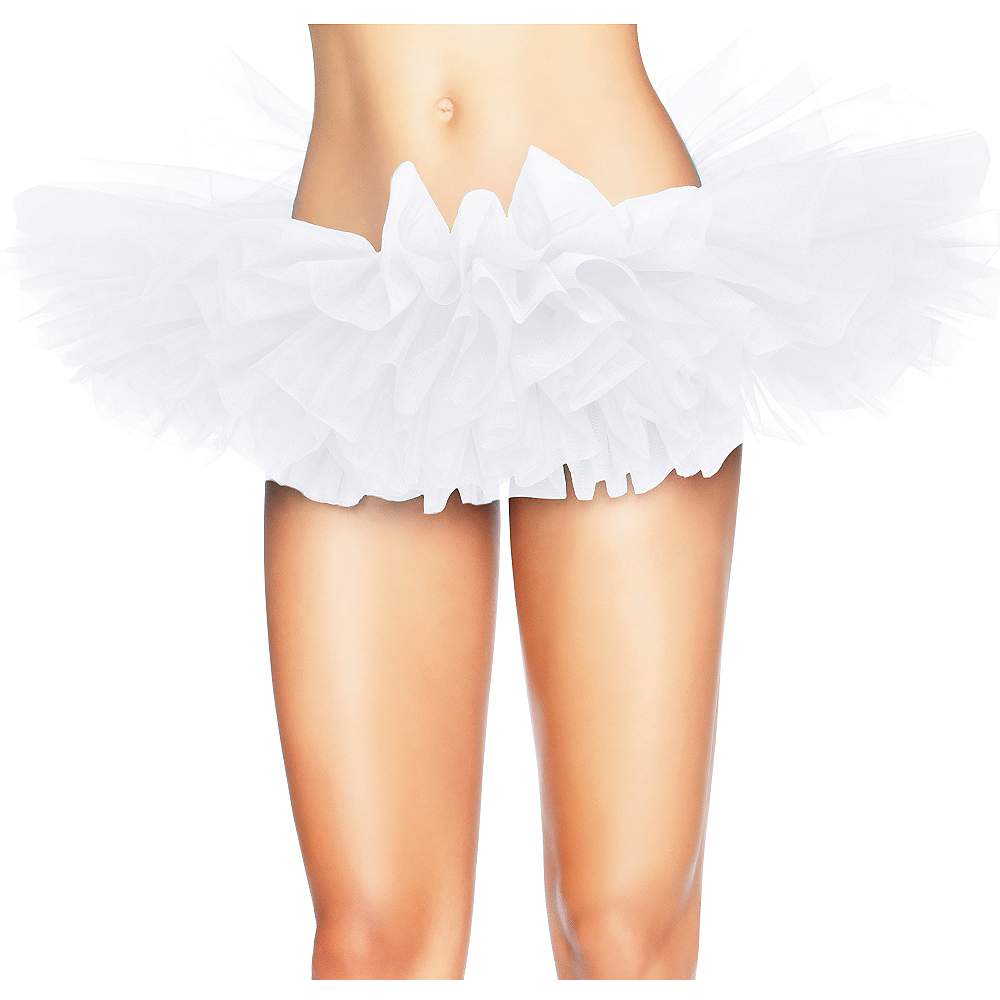 Nav Item for Adult White Organza Tutu Image #1