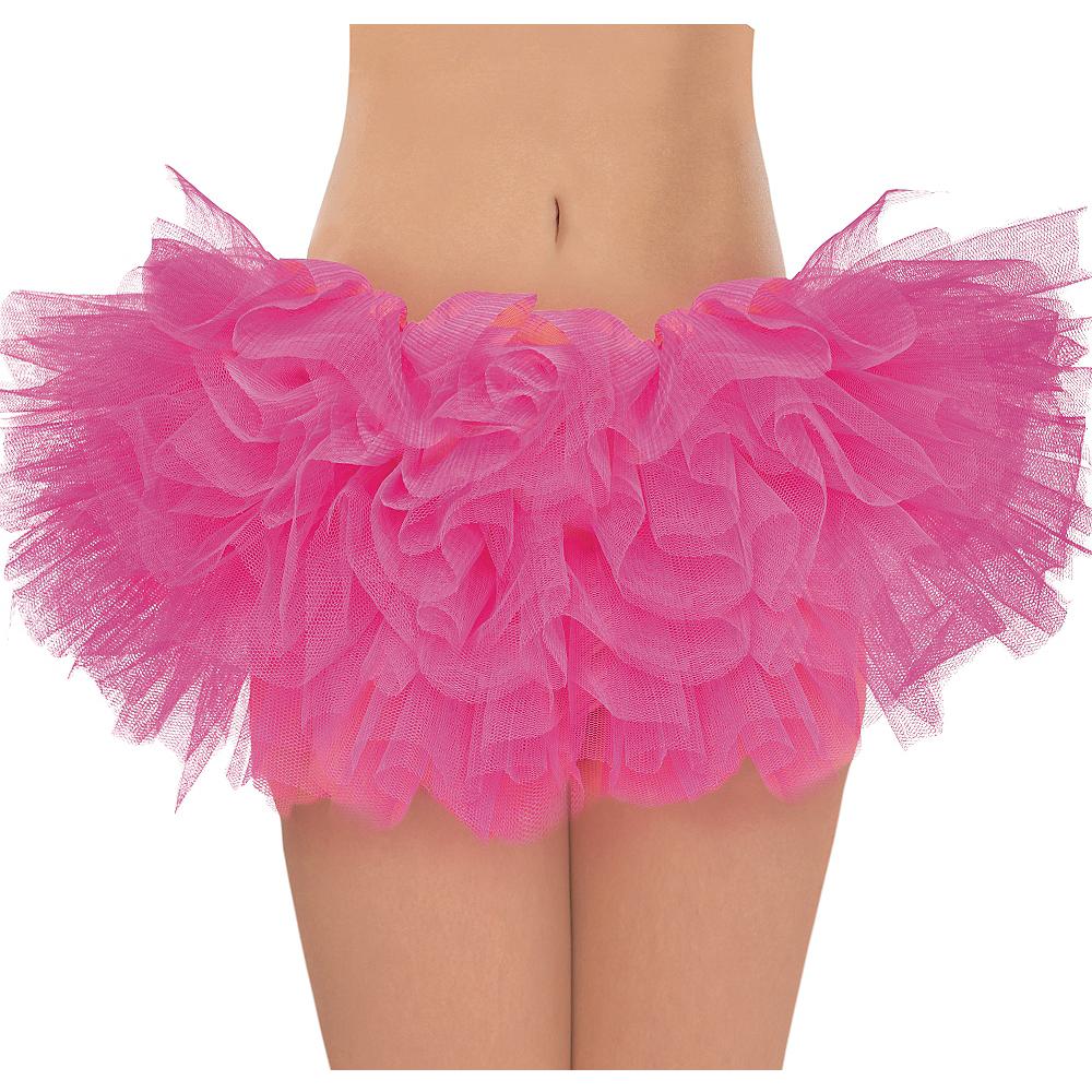 Adult Hot Pink Organza Tutu Image #1