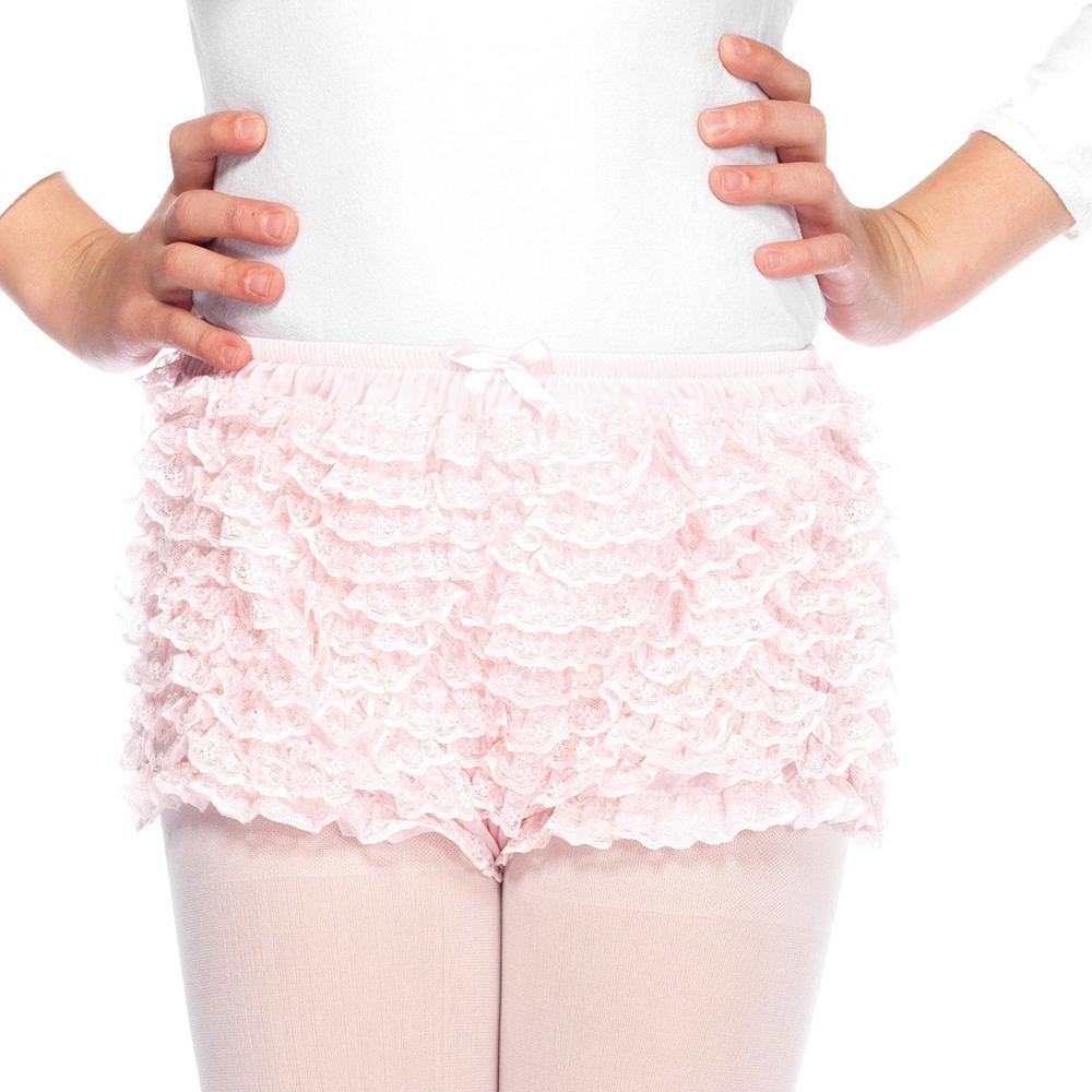 Child Pink Ruffled Shorts Image #1