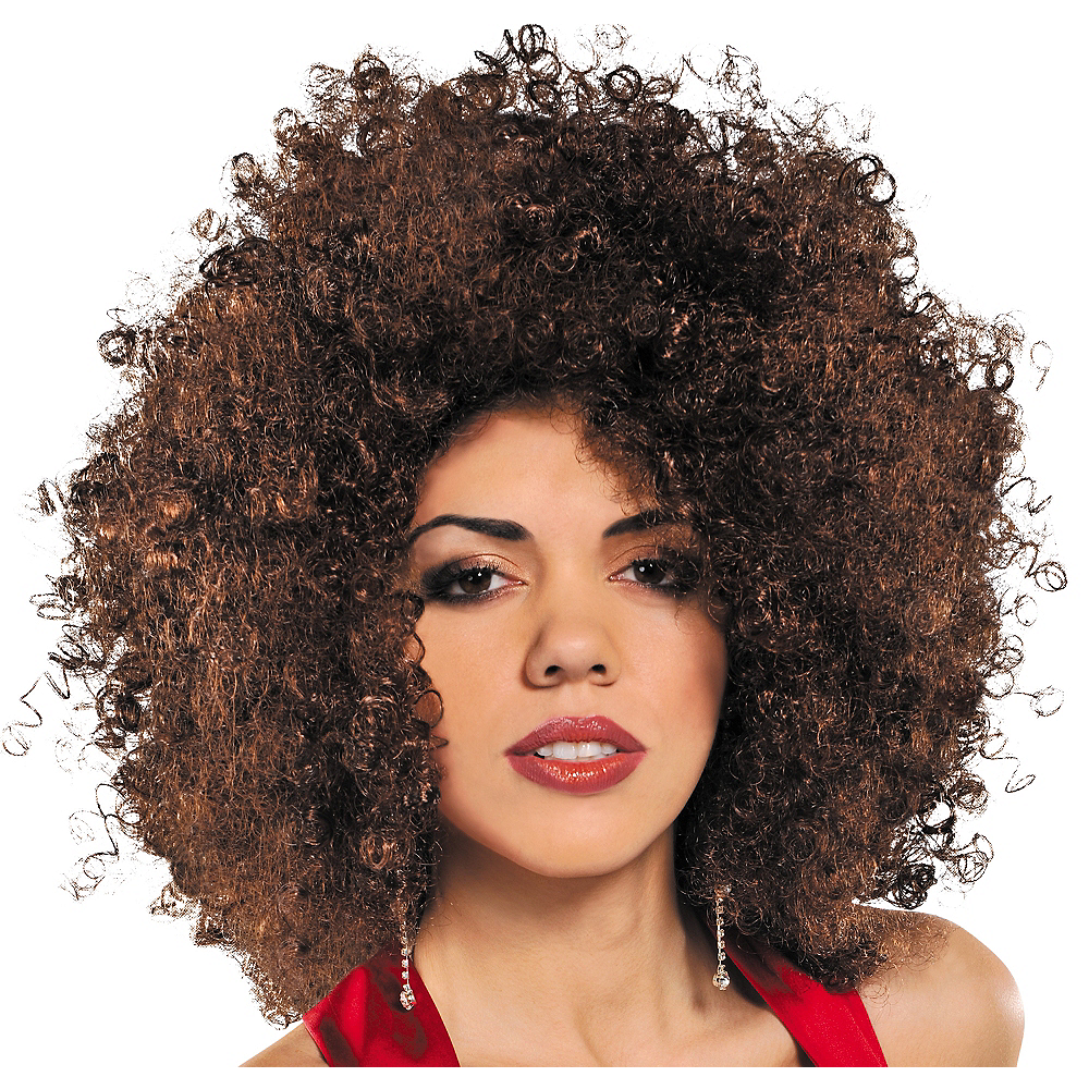 Nav Item for Runway Brown Afro Wig Image #1