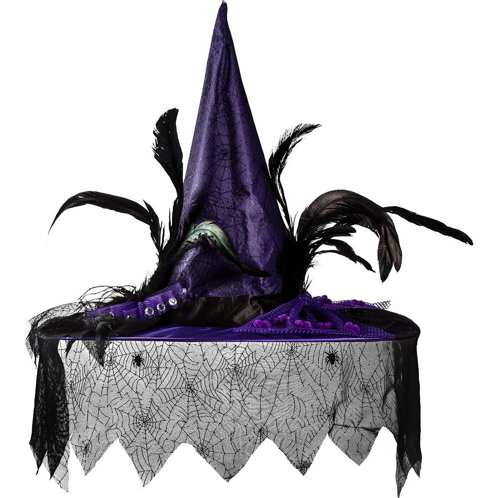 Purple Witch Hat Deluxe Image #1
