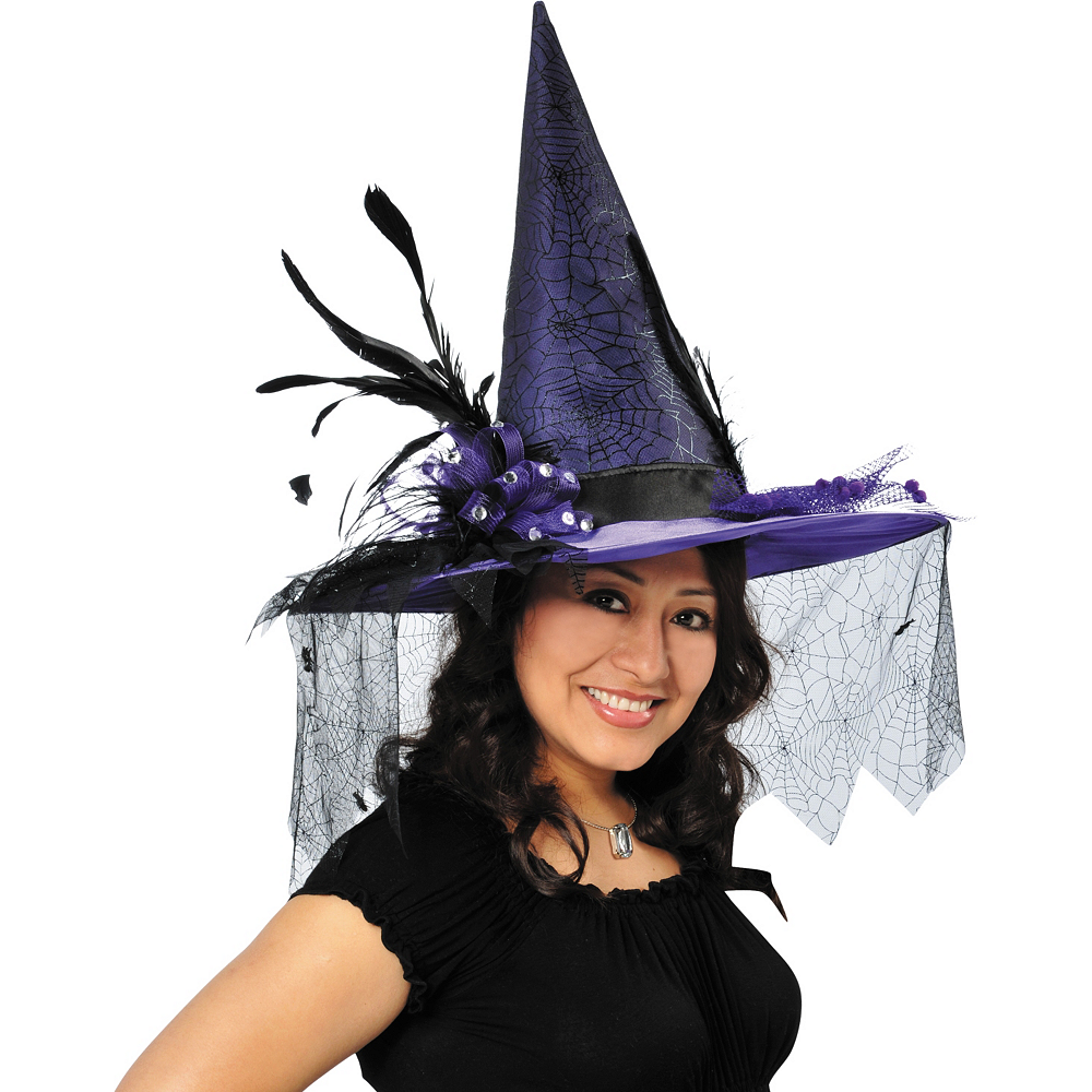 Purple Witch Hat Deluxe Image #2