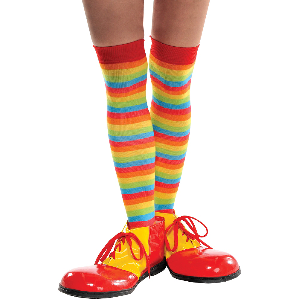 Rainbow Striped Knee High Socks Image #2