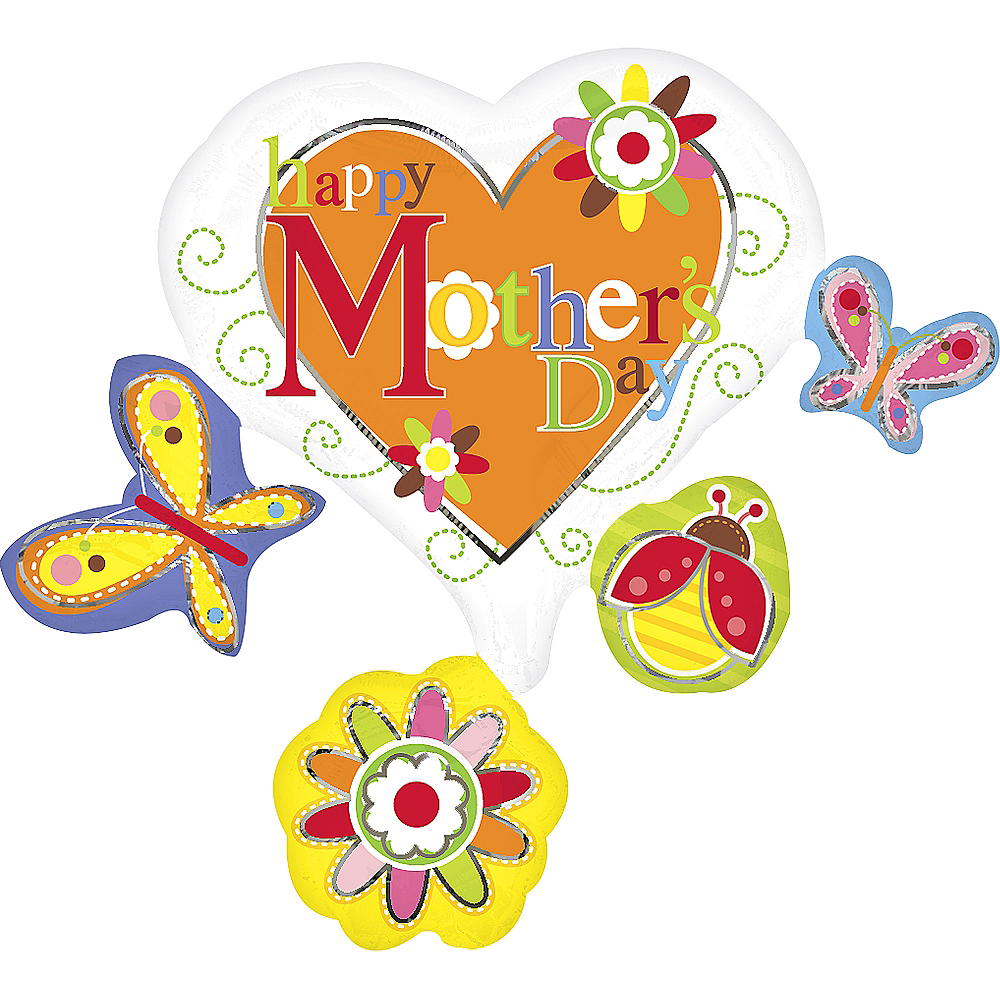 Nav Item for See Thru Spring Cluster Mother's Day Balloon 29in Image #1