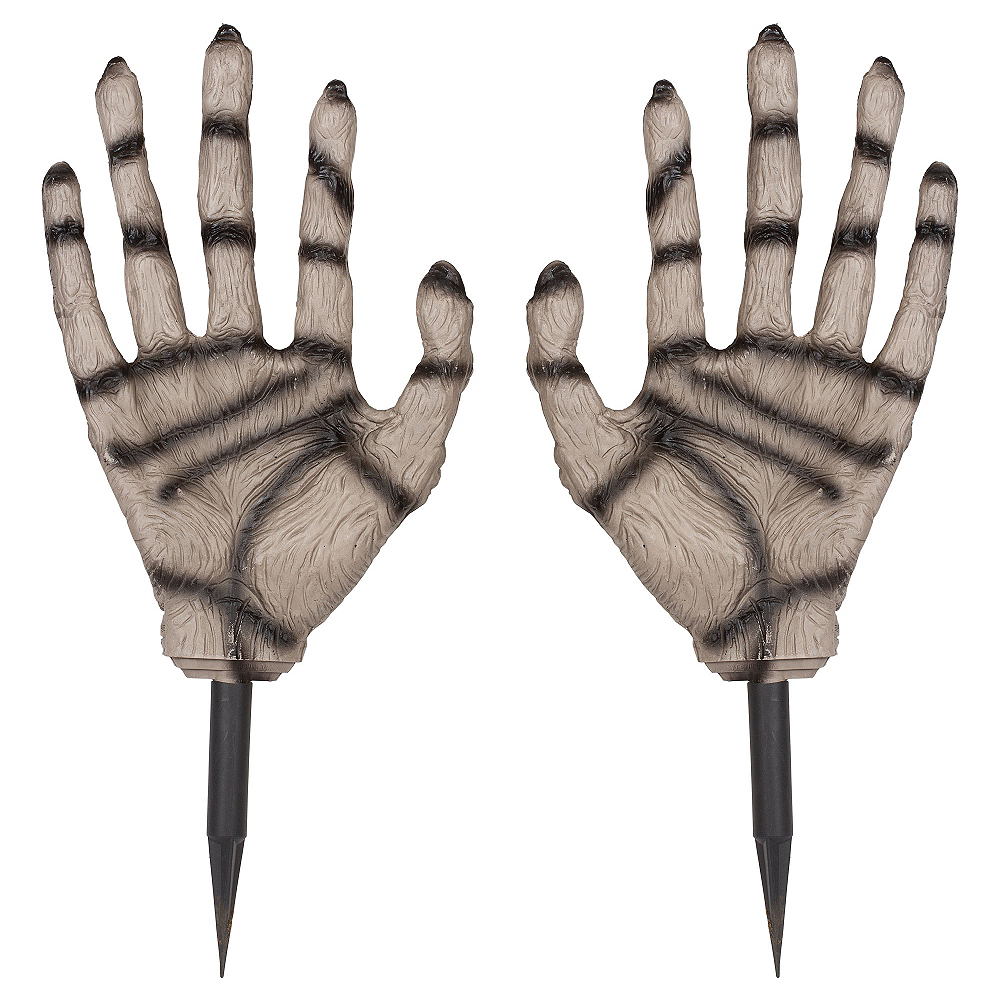 Nav Item for Zombie Hand Yard Stakes 2ct Image #1