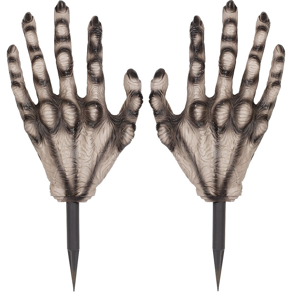 Nav Item for Zombie Hand Yard Stakes 2ct Image #2