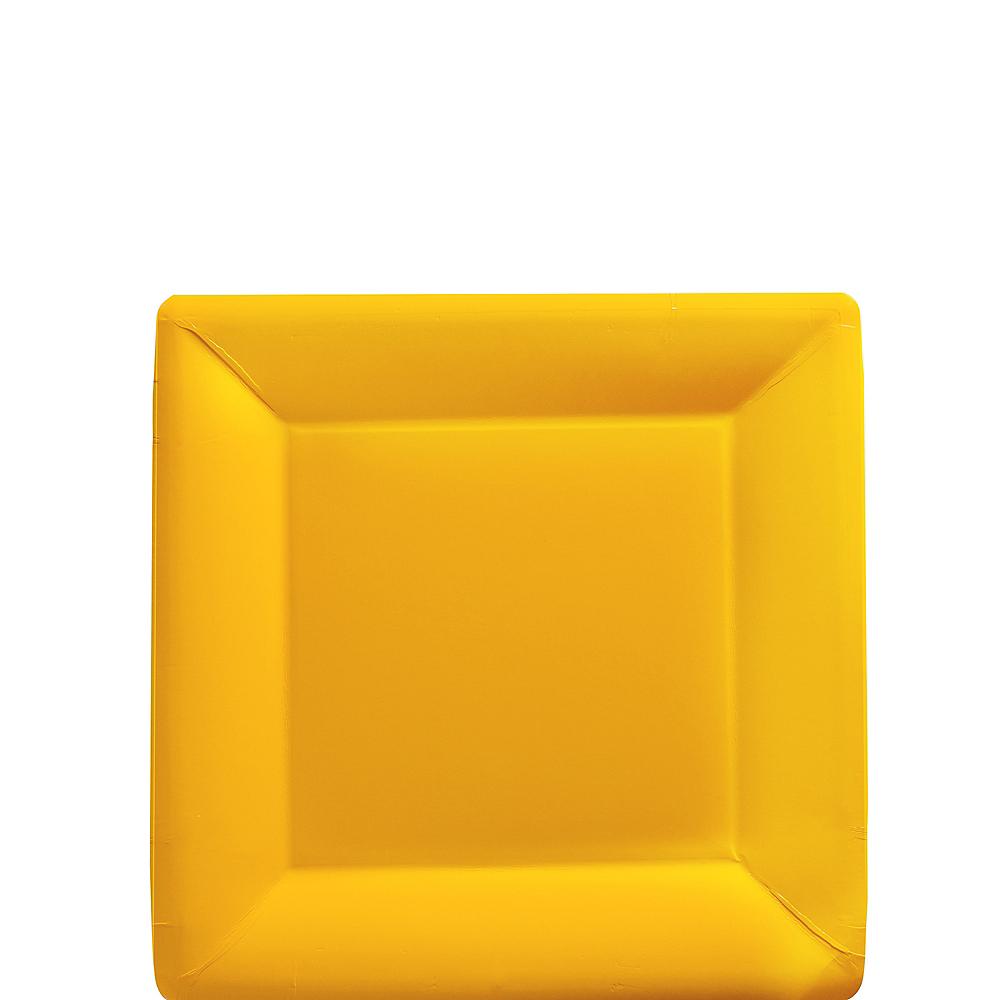Sunshine Yellow Paper Square Dessert Plates 20ct Image #1