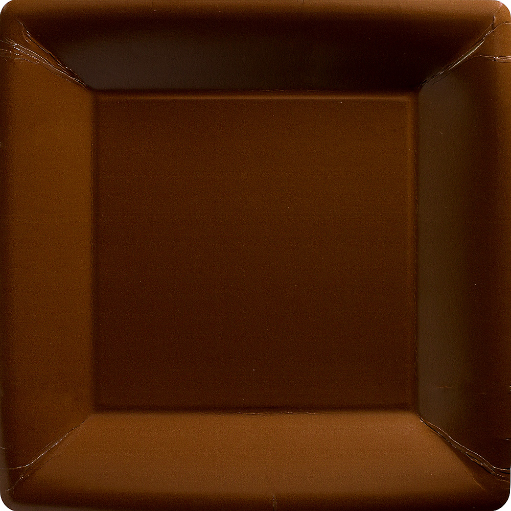 Chocolate Brown Paper Square Dinner Plates 20ct Image #1